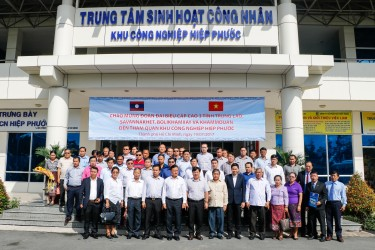 High-level delegation from 3 provinces in Lao PDR to visit and work in Hiep Phuoc Industrial Park
