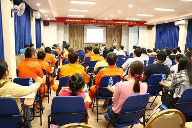 "The seminar ""Exchange of issues on common labor safety and fire safety in labor"" in Hiep Phuoc Industrial Park"