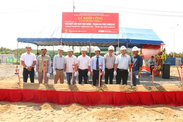 The ground breaking ceremony of Pham Gia Phat Jewelry Co., Ltd's Jewelery Factory in Hiep Phuoc Industrial Park