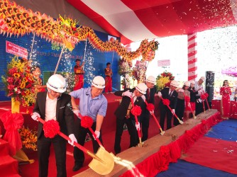 The ground breaking ceremony of Tho Phat Food Processing Factory in Hiep Phuoc Industrial Park