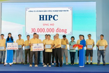 Hiep Phuoc Industrial Park Joint Stock Company participated in the charity program Lawrence S. Ting 2019