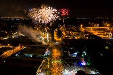 Hiep Phuoc Industrial Park fireworks to celebrate the Lunar New Year...