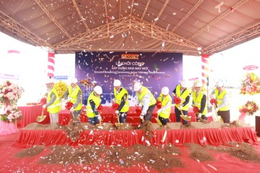 The ground breaking ceremony Jotun Vietnam new factory in Hiep Phuoc Industrial Park