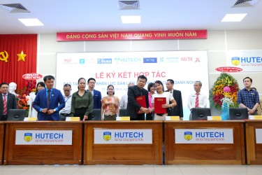 Hiep Phuoc Industrial Park has signed a cooperation agreement with HUTECH University to train highly qualified human resources for Enterprises