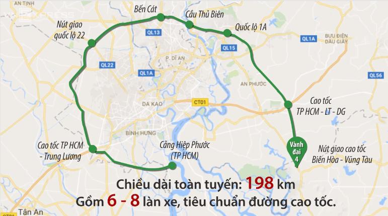 Thong Tin Chi Tiết Về Bản đồ Tuyến đường Vanh đai 4 Tp Hcm